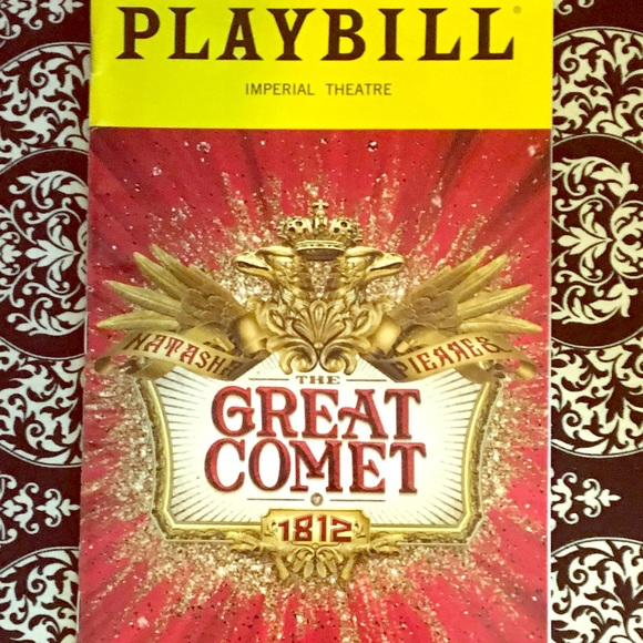 Other 1 Hr Sale The Great Comet Of 1812 Playbill Poshmark